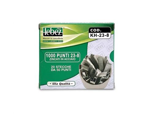 Punti per cucitrici Lebez H-K 23/8 1000pz.