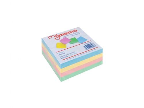 Cubo Memo adesivo 76x76 400 fogli col. Pastello