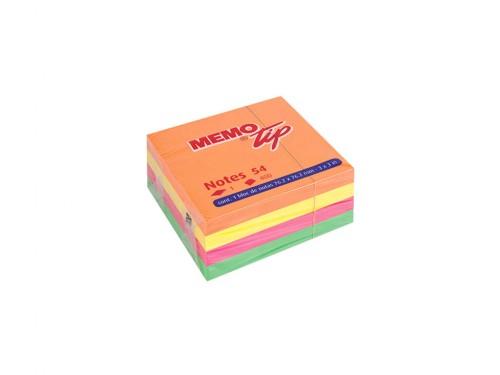 Cubo Memo adesivo 76x76 400 fogli Fluo