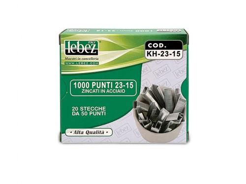 Punti per cucitrici Lebez H-K 23/15 1000pz.