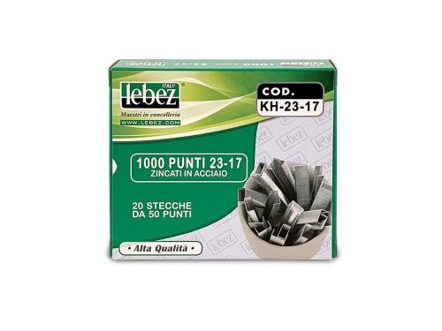 Punti per cucitrici Lebez H-K 23/17 1000pz.