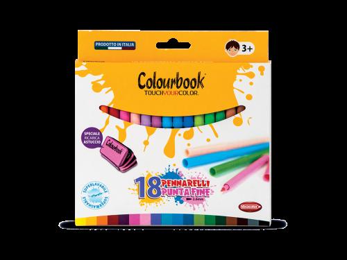 Pennarelli colorati Punta Fine Colourbook